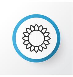 sunflower icon symbol premium quality isolated vector image vector image