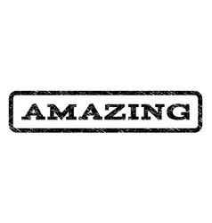 amazing watermark stamp vector image
