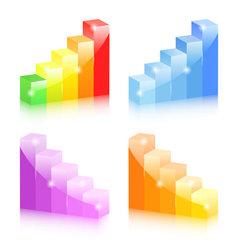 Bar graphs vector image