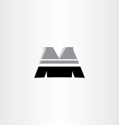 letter m black icon design vector image