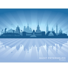 Saint Petersburg Russia city skyline silhouette vector image