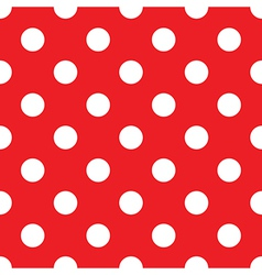 seamless red polka dot vector image vector image