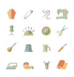 Sewing Equipment Icons Set vector image vector image