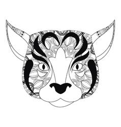tribal feline icon vector image