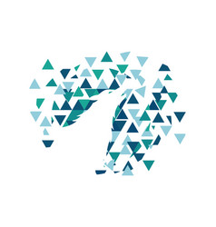 wolf polygon vector image