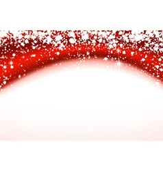 Christmas red wavy background with stars vector image