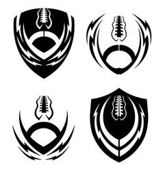 Football icon emblems set vector image