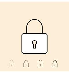 icon of padlock vector image vector image