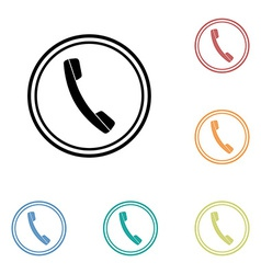 Icon of phone telephone vector image vector image