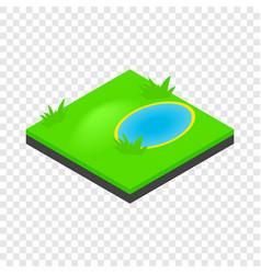 lake landscape isometric icon vector image vector image
