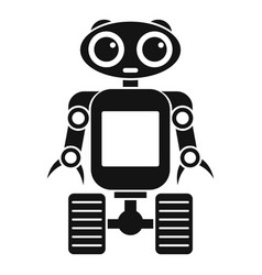 Robot on wheels icon simple style vector