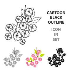 sakura flowers icon in cartoon style isolated on vector image vector image