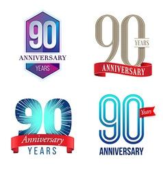90 Years Anniversary Symbol vector image vector image