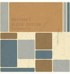 Abstract block design vector