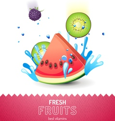 Bright fruit background vector image