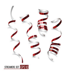 festive red ribbons vector image
