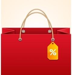 Paper Bag Background Sale vector image vector image