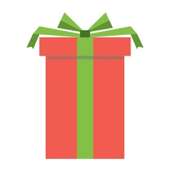 Red gift box icon vector