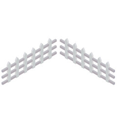 3d design for white wooden fence vector image