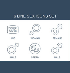 6 sex icons vector