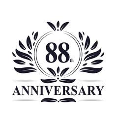 88th anniversary logo 88 years celebration vector