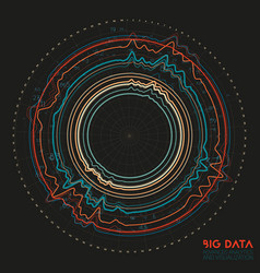 Abstract colorful round big data vector
