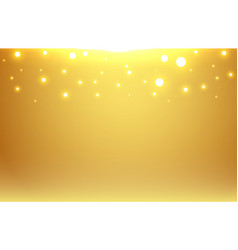 abstract gold blurred background with bokeh vector image