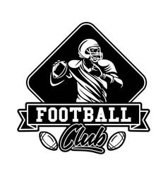 American football club badge sign vector