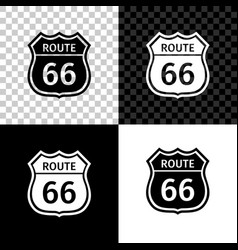 american road icon isolated on black white and vector image