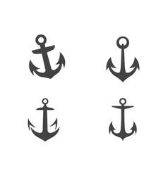 Anchor icon logo template vector