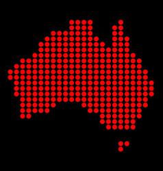 Australia in dots vector