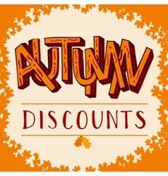 Autumn discounts vector