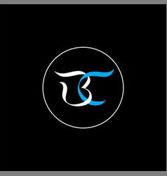 B c joint letter logo monochrome design vector