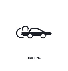 Black drifting isolated icon simple element from vector