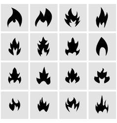 Black file icon set vector