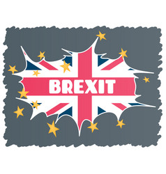 Brexit - uk exit from the european union eu the vector