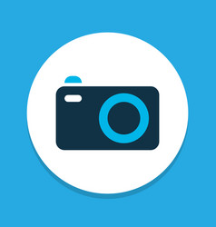 camera icon colored symbol premium quality vector image