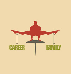 career and family balance concept of the scales vector image
