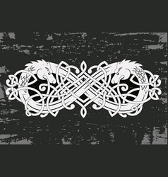 celtic two-headed dragon vector image