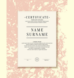 Certificate template for posting your information vector