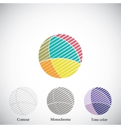 Circle abstract figure vector