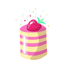 cute cartoon sweet cake vector image