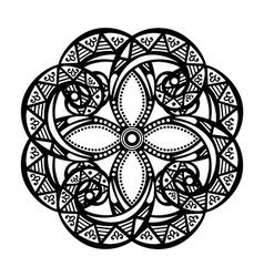 Deco symmetrical circle design vector