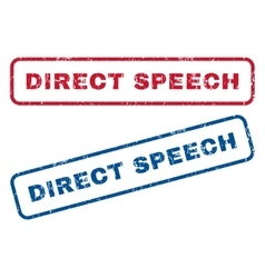Direct Speech Rubber Stamps vector