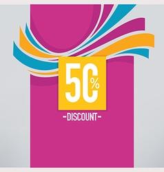 Discount background vector