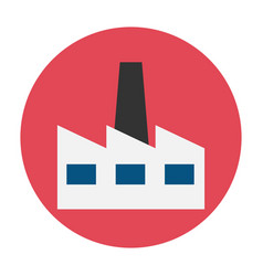 factory flat icon vector image