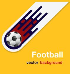 football flying soccer ball orange background vect vector image