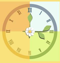 four seasons clock vector image