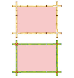 Frames of bamboo vector