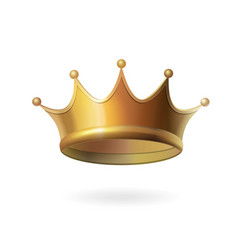 Gold crown on white background isolated vector